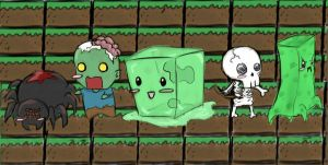 Minecraft Monsters by RenAyameAmaya