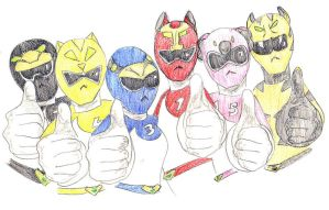 Power Rangers Down Under by Ave606
