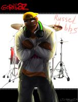 Gorillaz: Russel Hobbs by Tai-L-RodRigueZ
