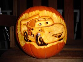 Cars Pumpkin by BAC-of-all-trades