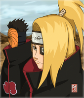 Deidara and Tobi by sharingandevil