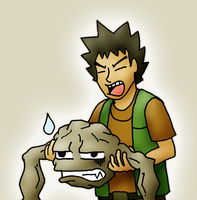 Geodude is in so much pain by ShapelyMan