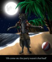 Beach Wolf Request by V8Arwing67