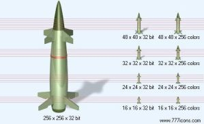 Missile with shadow Icon by military-icons