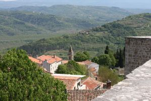 view from above in Motovun 5 by ingeline-art