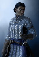 Vaia Grey Warden Portrait by rsek