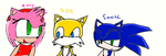 sonic, tails and amy by blazesonicx