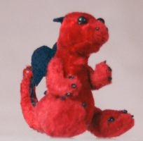Tiny Red Dragon Plush by The-GoblinQueen
