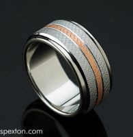 Knurled Copper Ring by Spexton