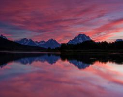 Sunset at Oxbow Bend 1 by mikewheels