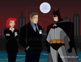 Mulder and Scully meets Batman by rickymanson