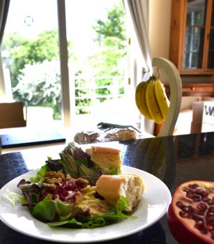Melted brie with walnut and pomegranate salad by Real-Neil
