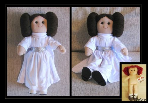 princess leia rag doll by nightwing1975