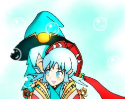 MK: Blue Haired Lollies by Cyber-Meta