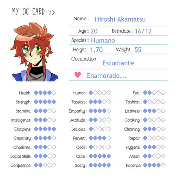 OC CARD: Hiro by HydeistAliaX