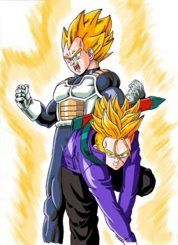 son and father colo by bulma-veggie
