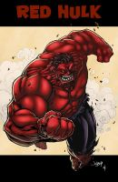 Red Hulk by logicfun