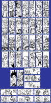 Miiverse Doodles 3 (August and September) by Gregarlink10
