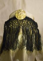 Gold Mask with Black Fringe by cristarowe
