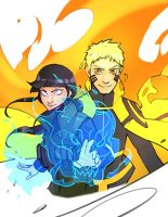 Commission - Naruto x Hinata by charlestanart