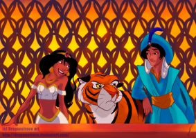 Disney genderbender - Aladdin and Jasmine version by DragonsTrace