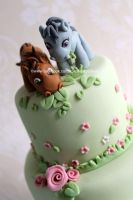 Horse fondant toppers by zoesfancycakes
