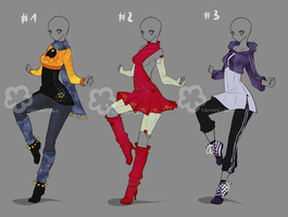 Some Outfit Adopts #26 - sold by Nahemii-san