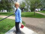 csplay photodhoot off Tamaki Suoh from Ouran High by stockinganime