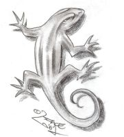 Lizard Tattoo Design by 2Face-Tattoo