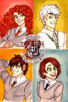 The Big Four in Hogwarts by DanieWuvsLelouch