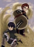 Lee and Gaara by suppai