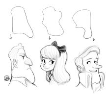 Shape Bust Sketches Video by LuigiL