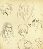 Some Head Sketches by Silverlykta