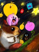 Kirby And The World of Loco Roco by Francisco-K