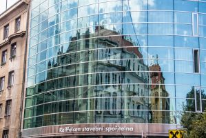 Reflected building by ShlomitMessica