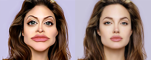 Angelina Jolie caricature by kybrdgal