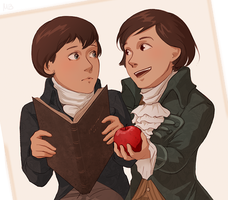 Arno x Napoleon \childhood by MByak