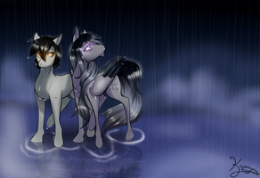 Night Rain (Contest Entry) by Kajeayn