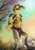 Commission - Anthro Chocobo by FuriarossaAndMimma