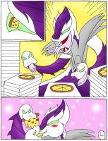 Karai's pizza party page 4 by Robot001