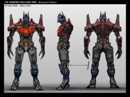 Optimus Prime Model Sheet by mohzart