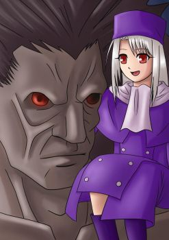 Illyasviel and Berserker by JeffriArt