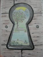 Through  The Keyhole by Larry-the-cucumber