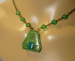 Symbol of Earth - handmade Necklace with Emerald by Ganjamira