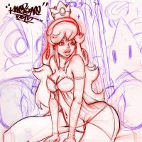 Princess Peach Pin Up WIP by KWESTONE