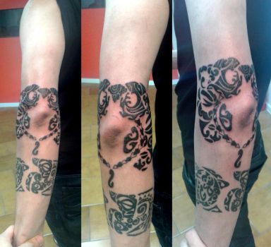Maori tattoo, session number 1 by flaviudraghis