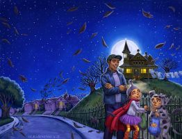 Cover for The Halloween House by feliciacano