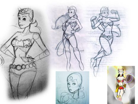 Darna Sketchdump by gabmadrid