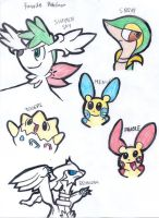 My top 6 Favorite Pokemon by Aqws7