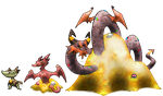 Hoard Dragon Fakemon by T-Reqs